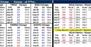 mercado de granos precios chicago rosario octubre 2020