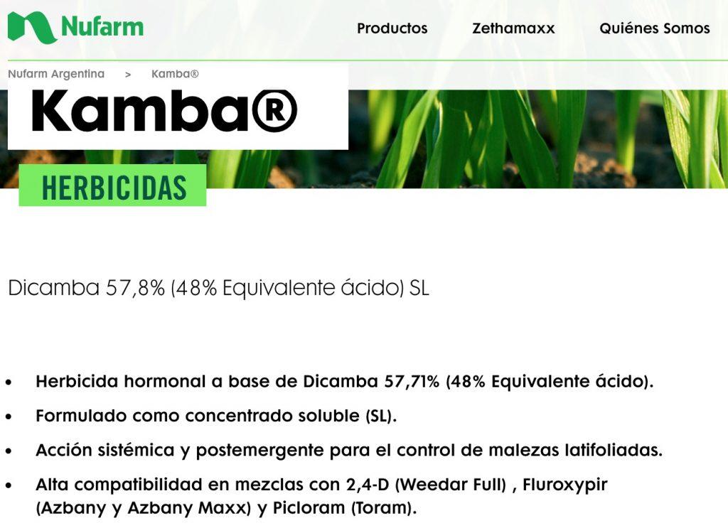Kamba herbicida dicamba nufarm argentina
