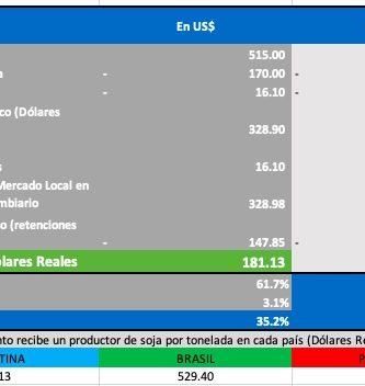 precio de la soja en dolar billete hoy julio 2021